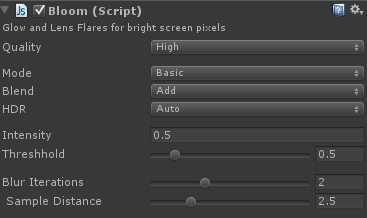 bloom shader settings