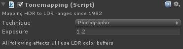tone mapping shader settings