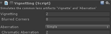 vignette shader settings