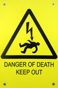 Danger of death sign