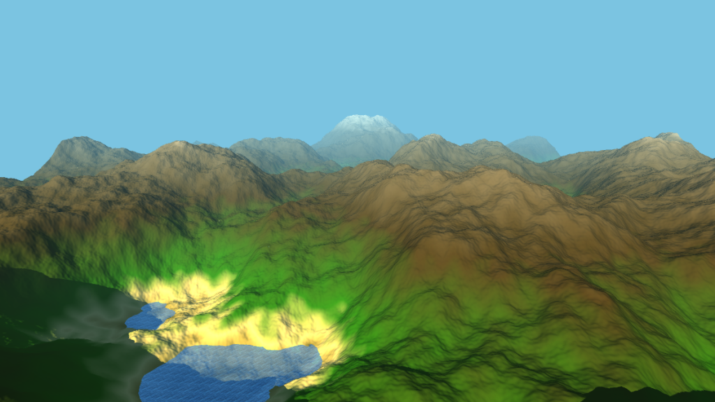 More detailed and larger terrain