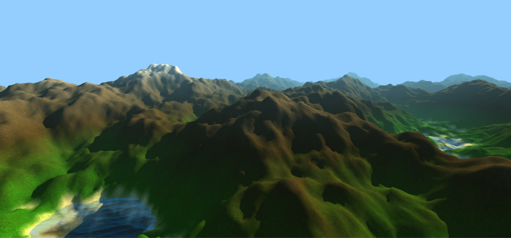 Simple procedurally generated mountains